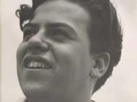 Black and white photo of a young Miguel Covarrubias