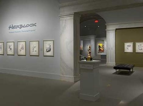 View of Herblock exhibition