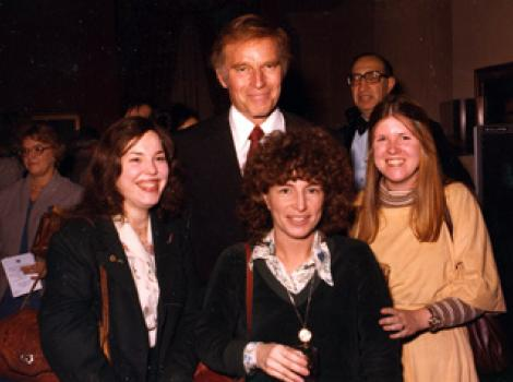 Charlton Heston and Smithsonian staff