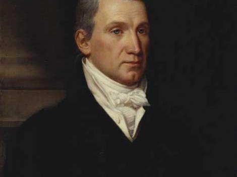 Painted portrait of James Monroe