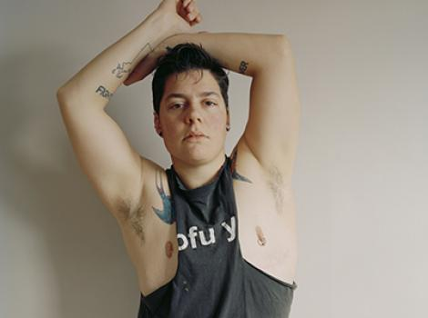 Self-portrait (muscle shirt) by Jess T Dugan