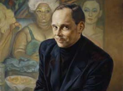 Painted portrait of John Waters