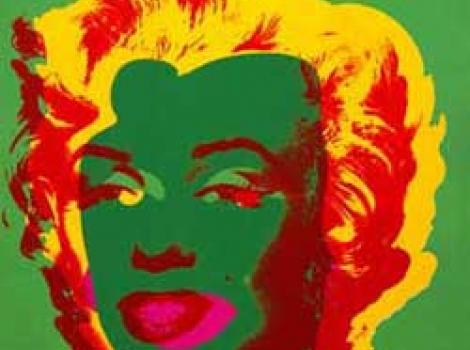 Screenprint porrait of Marilyn Monroe