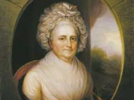 Painted portrait of Martha Washington