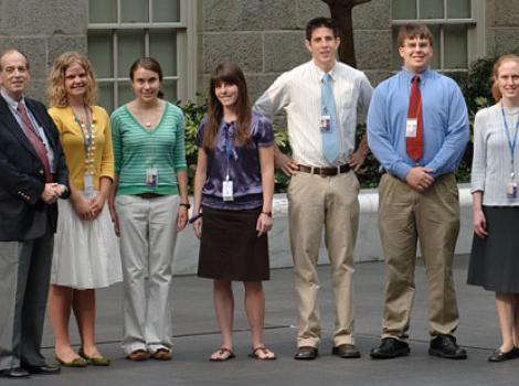 Gourp photo of museum interns
