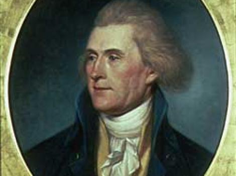 Painted portrait of Thomas Jefferson