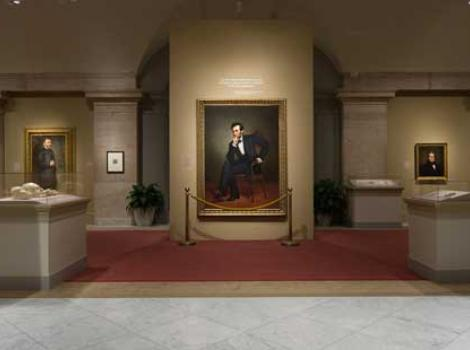 """View of the """"America's Presidents"""" exhibition"""