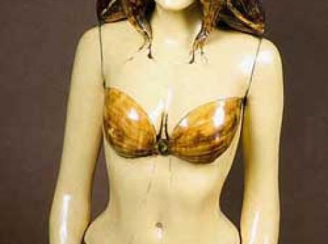 Sculpture of Raquel Welch in bikini