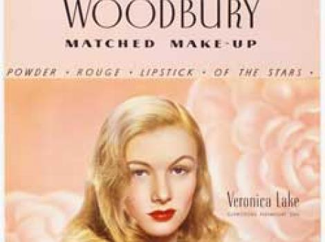 Veronica Lake poster for Woodberry make up