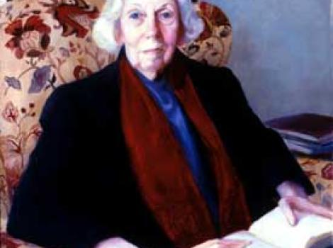 Painted portrait of Eudora Welty