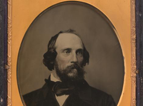 Black and white image of a man from the nineteenth century