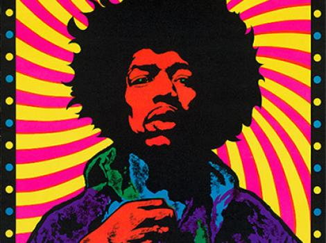 Psychedelic poster of JImi Hendrix
