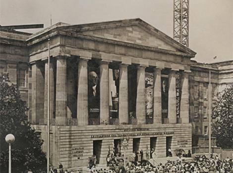 Sepia tinted photograph of the Patent Office Building