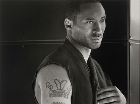 Portrait of an African American athlete with an arm tattoo