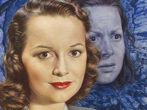dual portraits of the same woman
