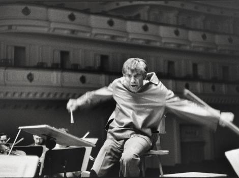 Man conducting an orchestra
