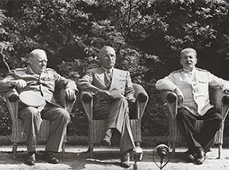 Churchill, Truman and Stalin at Potsdam by Yevgeny Khaldei