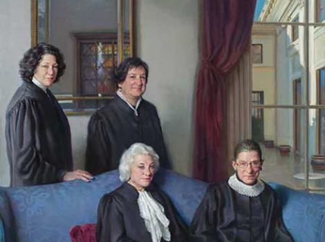 "The ""Four Justices Painting"" by Nelson Shanks"