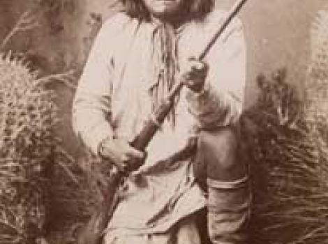 Geronimo c. 1823–1909  A. Frank Randall (1854–1916)  Albumen silver print, c. 1887