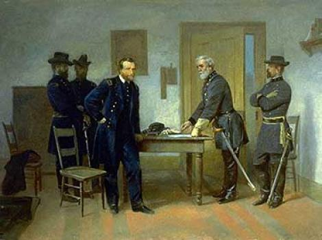 Lee Surrendering to Grant at Appomattox / By Alonzo Chappel