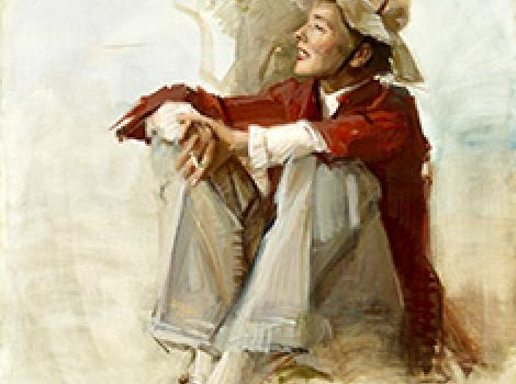 Katharine Hepburn by Raymond Kinstler