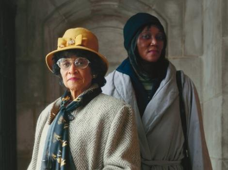 """Photograph named """"Margaret and Marquetta Tisdell, Original Providence Baptist Church"""" by Paul Damato"""