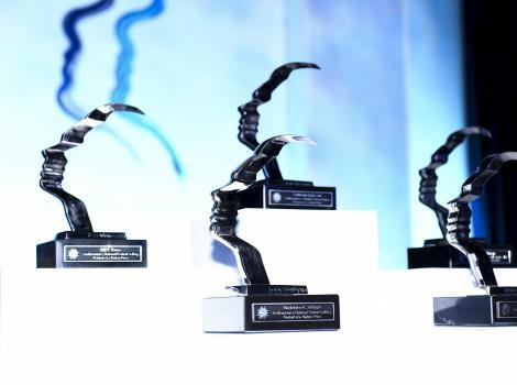 Gala award trophies