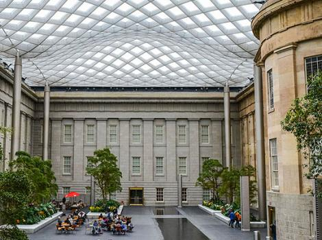 View of the Kogod courtyard and canopy