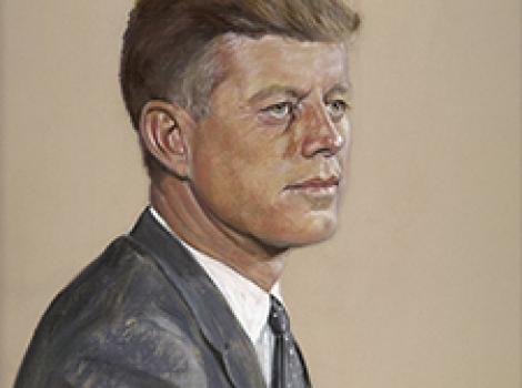pastel sketch of a man in a suit