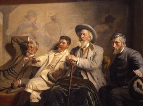 Group of four Danish men