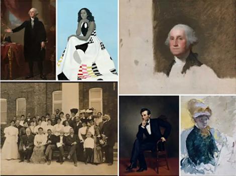 multiple museum portraits