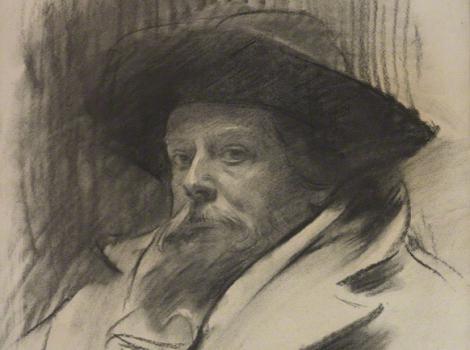 Bearded man with a heavy coat