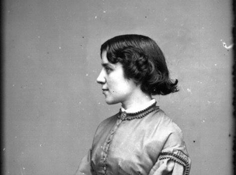 Seated profile portrait of a young 19th century woman