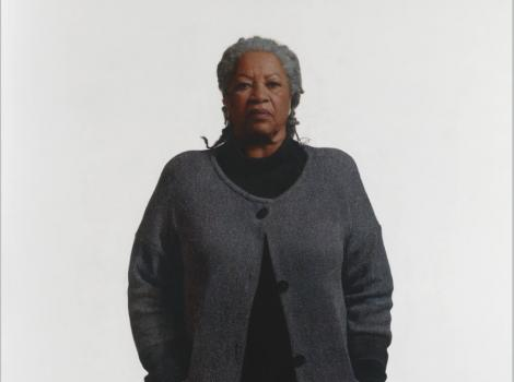 African American woman in a gray sweater