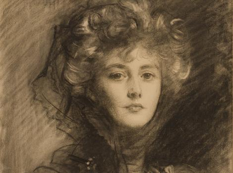 19th century woman with upswept hair