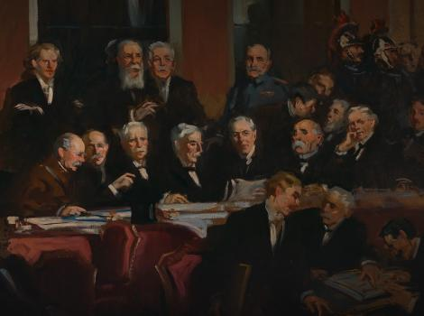 group of men in a legislative chamber