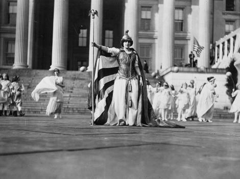 Suffragist parade in Washington