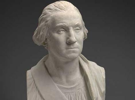 Plaster bust of George Washington