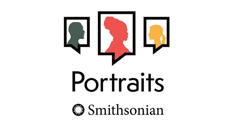Portraits podcast logo featuring silhouettes