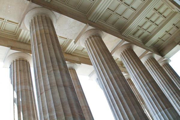 Columns at the museum's entrance