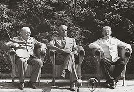 Churchill, Truman and Stalin at Potsdam by Yevgeny Khaldei