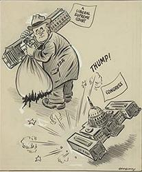 Political cartoon of Franklin Roosevelt