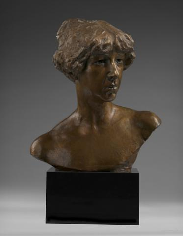 Brzone sculpture of Gertrude Vanderbilt Whitney