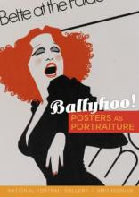 """Cover for """"Ballyhoo!"""" with Bette Midler illustrated poster that accents her red hair"""