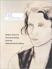"""Book cover for """"Eye Contact"""" with drawing of a woman's face"""