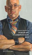 Book cover with painted portrait of a man folding his arms