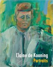 "Cover of ""Elaine de Kooning Portraits"" with portrait of John F. Kennedy on the cover"