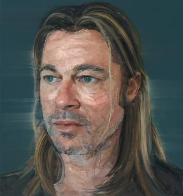 Brad Pitt by Colin Davidson