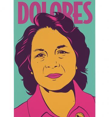 Dolores Huerta by Barbara Carrasco