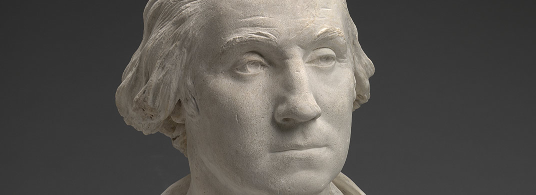 Plaster sculpture of George Washington
